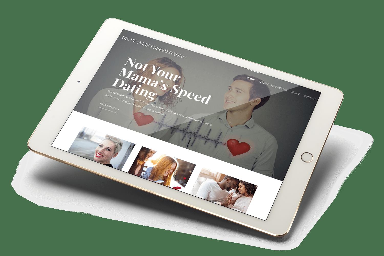 Dr. Frankie Speed Dating Website Mockup